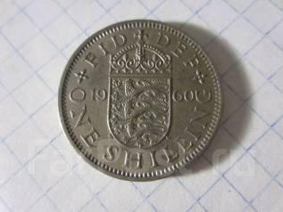 Великобритания 1 шиллинг 1960 года (11)