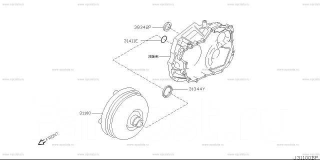 Корпус кпп. Nissan: Wingroad, Liberty, Serena, Avenir, Primera, AD, Prairie Двигатели: QR20DE, QR25DD