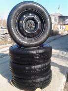 Продам комплект колес на летней резине 195/65R15. 5.5x15 4x100.00 ET45 ЦО 67,0мм.