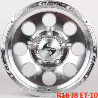 Новые! GT Wheels R16 J8 ET-10 5X150 [2838]. 8.0x16, 5x150.00, ET-10, ЦО 110,1мм.