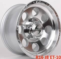Новые! GT Wheels TDW-741 R16 J8 ET-10 5X150 [2838]. 8.0x16, 5x150.00, ET-10, ЦО 110,1мм.