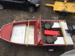 Продам лодку алюминиевую. Год: 2017 год, длина 4,50м., двигатель без двигателя, бензин