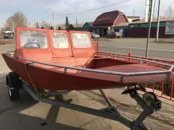 Продам лодку алюминиевую. 2017 год год, длина 4,50м., двигатель без двигателя, бензин