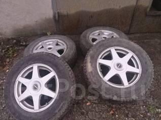 Продам комплект колес Dunlop Grandtrek SJ6 c литьем. 6.5x16 5x100.00, 5x114.30 ET35