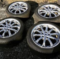 Диски WORK с резиной Dunlop LE MANS LM704 235 45 18. Honda Legend KB1. 8.0x18 5x120.00 ET43