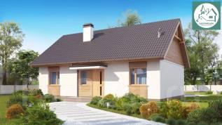 Царский Дом - Проект практичного дачного дома ЦД8-3-84-2. до 100 кв. м., 1 этаж, 3 комнаты, кирпич