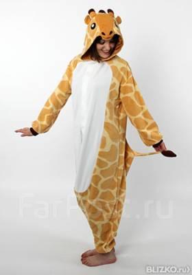 Новая Кигуруми Жираф плюшевая пижама - Одежда для дома и сна в Санкт ... 1df5d1c2c8b2b