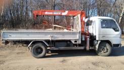 Бортовой грузовик 4т с краном 2.5т