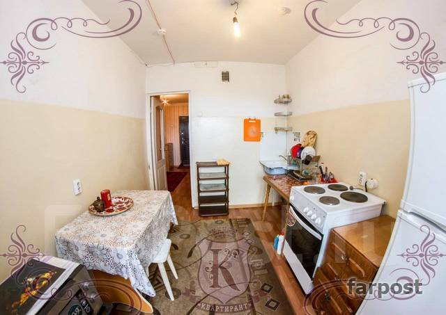 1-комнатная, улица Адмирала Горшкова 22. Снеговая падь, 42кв.м. Кухня