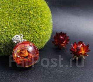 Украшения ручной работы из цветов в ювелирной смоле для лесных фей !
