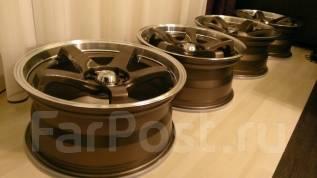 "Два колеса Advan Dunlop. 8.0x17"" 5x100.00, 5x114.30 ET35 ЦО 73,1мм."