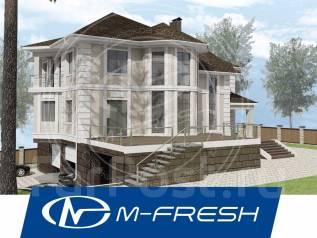 M-fresh Level Up Plus! -зеркальный (Двухэтажный жилой дом с цоколем! ). 400-500 кв. м., 2 этажа, 6 комнат, бетон