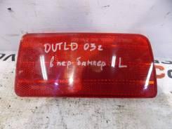 Отражатель в бампер задний левый Mitsubishi Outlander (CU) 2003-2009