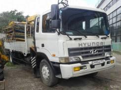 Hyundai Gold. Автоманипулятор 2003 г. в. Установка Soosan, 2 400 куб. см., 5 500 кг.