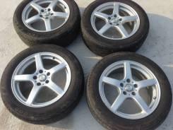 Продам шины с литьем 215.60.17 летние. 7.0x17 5x100.00 ET48