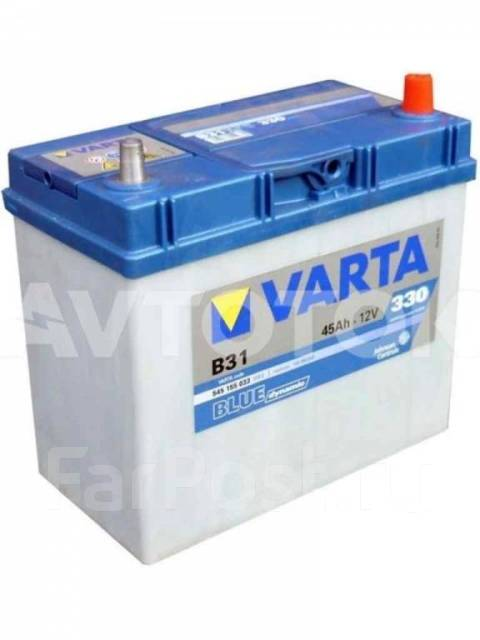 Varta. 45 А.ч., Обратная (левое), производство Европа