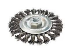Щетка для УШМ 125мм М14мм плоская крученая сталь HOBBI