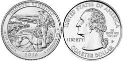 25 центов 2016 Северная Дакота Национальный парк Теодора Рузвельта