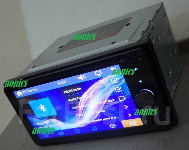 """Авто магнитола 7"""" Toyota AUX TV USB SD DVD, MP3 Блютуз 200на100мм."""