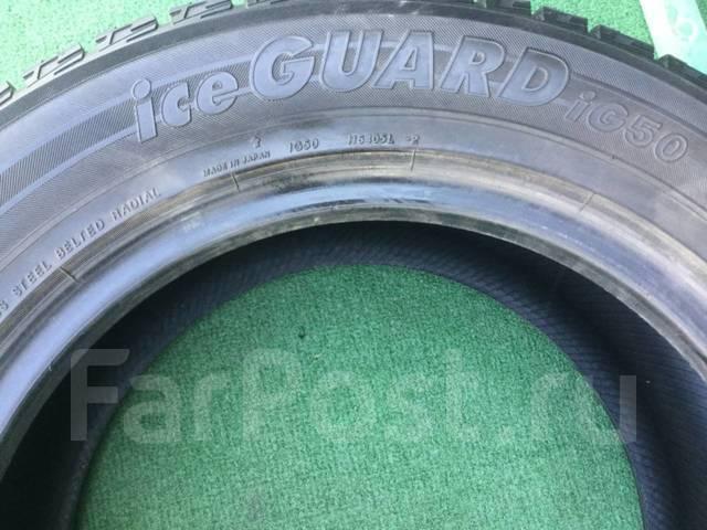 Yokohama Ice Guard IG50. Зимние, без шипов, 2012 год, износ: 10%, 4 шт