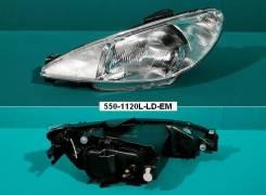 Фара. Peugeot 206, 2B, 2A/C Двигатели: TU3JP, TU5JP4, TU3A