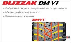Bridgestone Blizzak DM-V1. Зимние, 2008 год, 40%, 4 шт