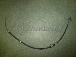 Трос ручного тормоза SsangYong Actyon 06-, Kyron 05- (диз) LH 4901009201 (дисковые тормоза) L=1450 4901009203/PTD-003, левый