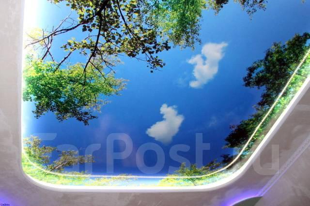Натяжные потолки Фаворит. Фотопечать на обоях. Картины.