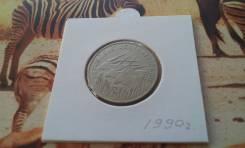 Западная Африка. 100 франков 1990 г. Редкий год! Западная канна, 3 гол