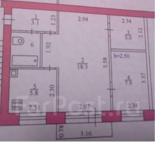 2-комнатная, улица Шевченко 80. агентство, 44 кв.м.