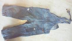 Полукомбинезоны джинсовые. Рост: 74-80, 80-86, 86-98 см