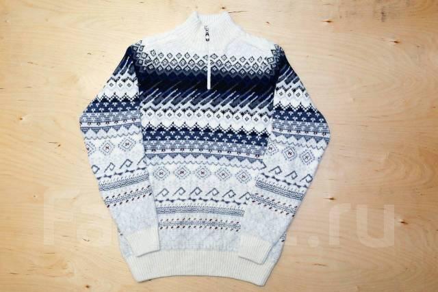 2d2820bf7e6 Премиум свитер с орнаментом из натуральной шерсти - с молнией на ...