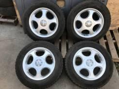 Комплект зимних колес в отличном состоянии б/п по РФ. 6.5x15 5x100.00, 5x114.30 ET45 ЦО 73,1мм.
