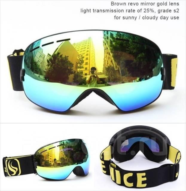 Горнолыжные очки-маска для сноуборда BE NICE + Футляр в комплекте ... 586608620e4