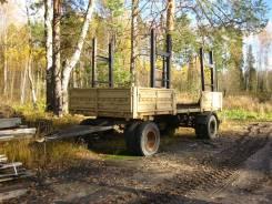 Сзап 8357. Прицеп бортовой / лесовозный сзап 8357, 13 000 кг.