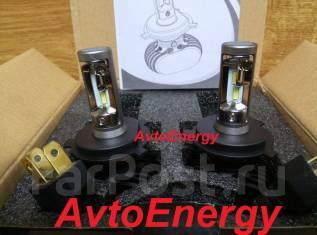 Комплект светодиодных LED ламп H4/ H11 / H8/ HB4/ HB3 Гарантия - 6 мес. Toyota: Lite Ace, Corona, MR-S, Tundra, Sprinter, Tarago, Starlet, Porte, Echo...