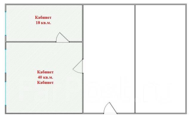 """Выбор ОФИС*ов — от 37 до 73 м. — ост. """"Гоголя"""". 73 кв.м., проспект Красного Знамени 59, р-н Некрасовская. План помещения"""