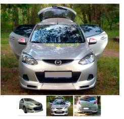 Обвес кузова аэродинамический. Mazda Mazda2, DE Двигатели: MZR, ZJVE, ZYDE, MZCD, Y4, ZYVE. Под заказ