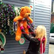 Плюшевый медведь мягкий мишка 0.8 м три цвета