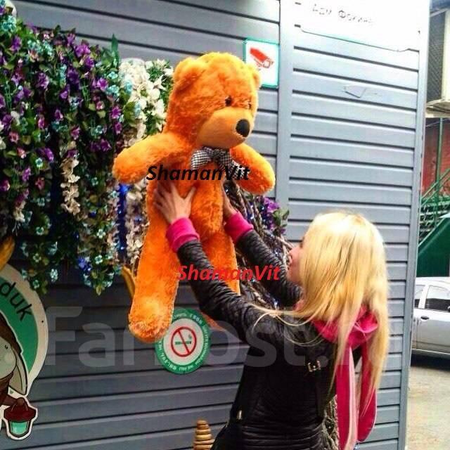 Плюшевый медведь мягкий мишка 85 см 4 цвета . 14650 шт в наличии