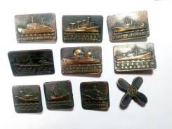 Карабли построены на Балтийском. Комплект из 10 значков. Металл