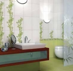 Декор Ретро салатовый бамбук тип 1 /250х350 мм/
