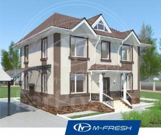 M-fresh Paradise (Проект 2-этажного компактного дома. Посмотрите! ). 100-200 кв. м., 2 этажа, 5 комнат, бетон