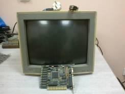 Продам цветной ретро монитор EGA с видеокартой. 14дюймов (36см)