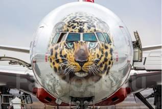 Boeing-777 300ER 1/144 (Звезда) + Rossiya new Леопард с масками