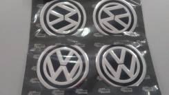 Заглушки, накладки на литье Volkswagen 4 шт D 6 см черный фон