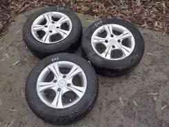 Три литья с резиной Dunlop, 185/65 R14