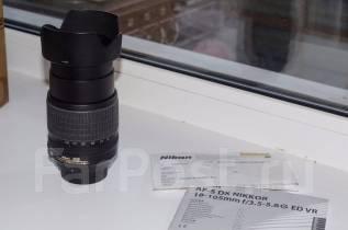Продам объектив AF-S DX Nikkor 18-105mm f/3.5-5.6G ED VR. Для Nikon, диаметр фильтра 67 мм