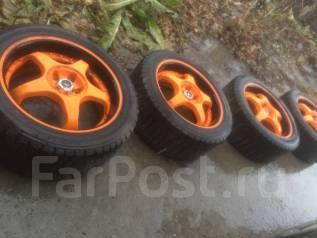 Продам колеса racing wheel на subaru с резиной 205/50r16 dunlop. x16 5x100.00 ET38