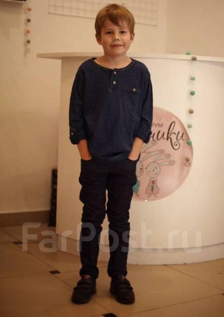 Рубашки джинсовые. Рост: 110-116, 116-122, 122-128 см